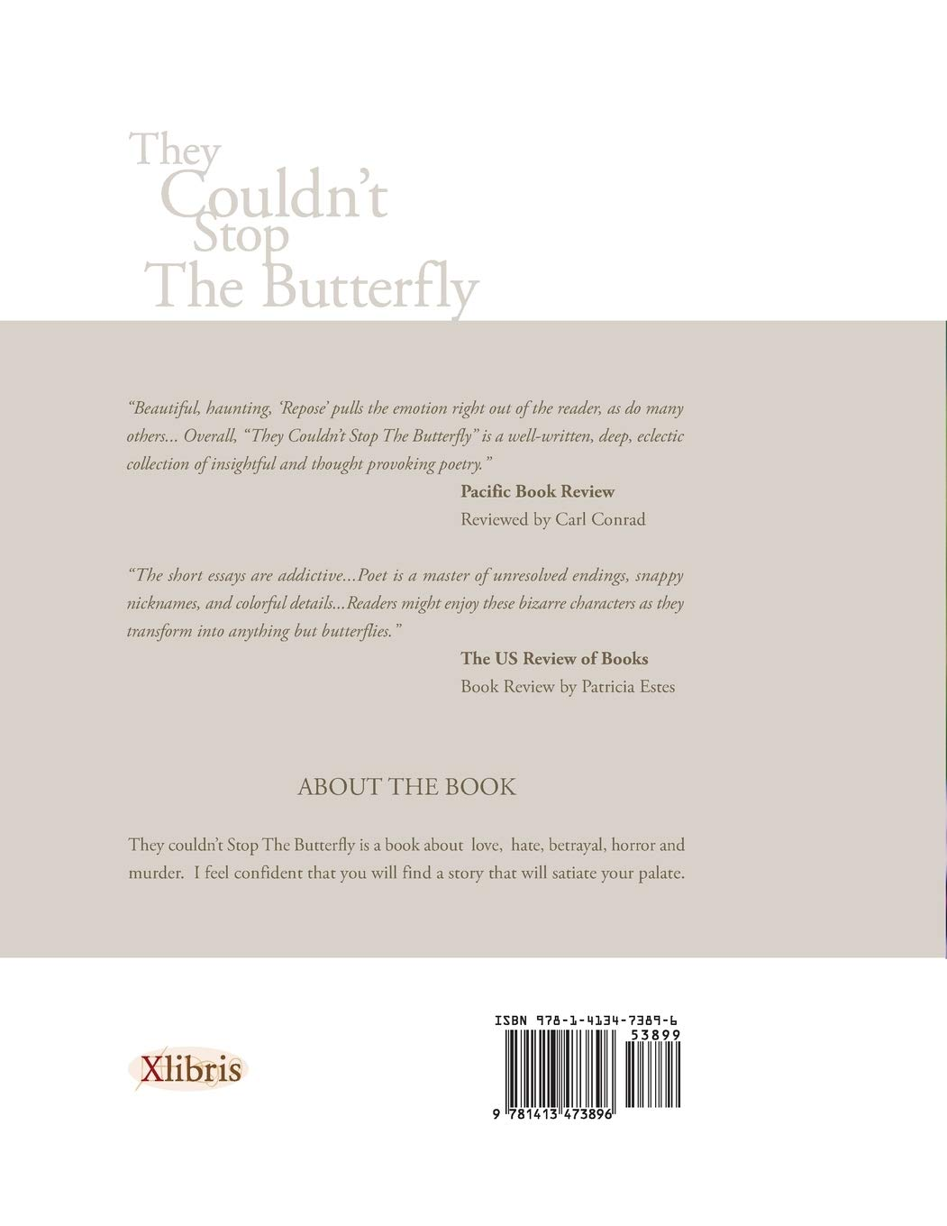 They Couldnt Stop the Butterfly backcover